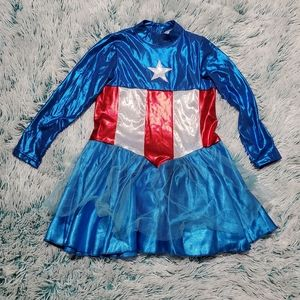 Captain marvel girl costume size 4-6